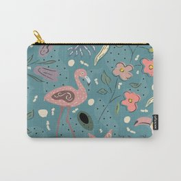 Flamingo Bird and Toucan Carry-All Pouch
