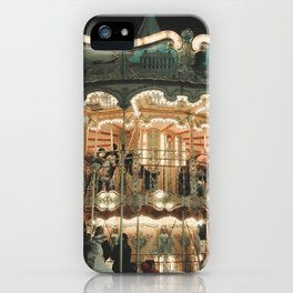 Magic Parisian carousel at night iPhone Case
