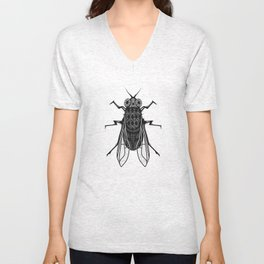 A housefly Unisex V-Neck