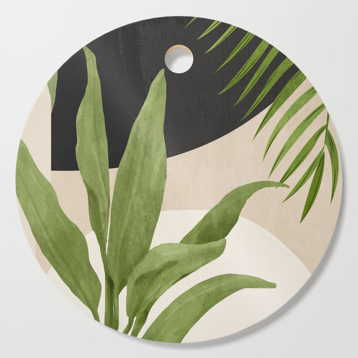 Abstract Art Tropical Leaf 11 Cutting Board