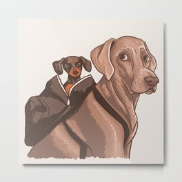 Harlow and Indiana Metal Print