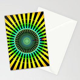 Rainbow Spokes Stationery Cards