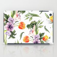 Watercolor spring floral pattern iPad Case