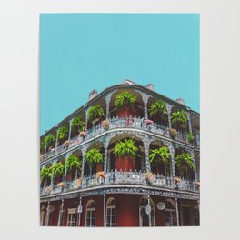 Hanging Baskets of Royal Street, New Orleans Poster