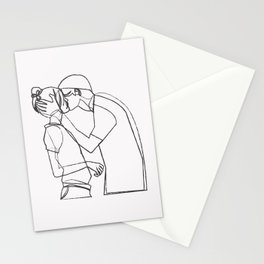 Couple Kiss Stationery Cards