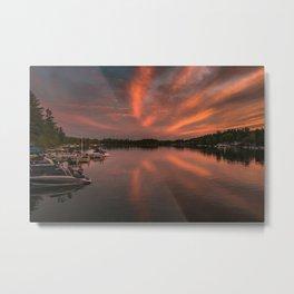 Winnisquam Sunset Metal Print