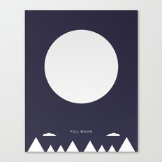 Full Moon - Moon Phases Canvas Print