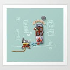Fireee! Art Print