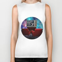tv Biker Tanks featuring Television by Cs025