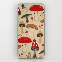 mushrooms iPhone & iPod Skins featuring Mushrooms by Lynette Sherrard Illustration and Design