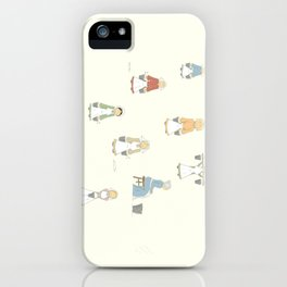 Eight Maids-a-Milking iPhone Case