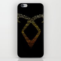 mortal instruments iPhone & iPod Skins featuring The Mortal Instruments by Tsvetelina Mladenova