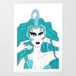 Scorpio / 12 Signs of the Zodiac Art Print