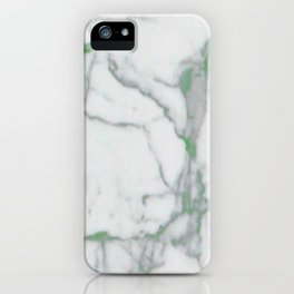 MARBLE GREEN iPhone Case