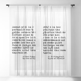 Deepest of all - Fitzgerald quote Sheer Curtain