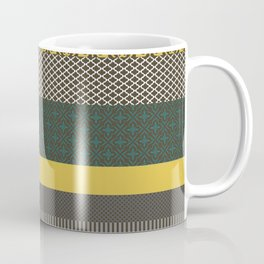 yellow multipattern longitudinal Coffee Mug