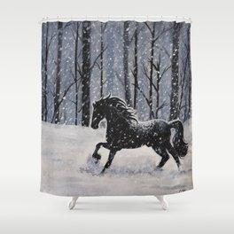 In Silence Shower Curtain