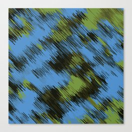 green blue and black painting texture abstract background Canvas Print