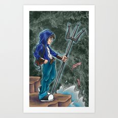 Percy Jackson, the son of Poseidon Art Print