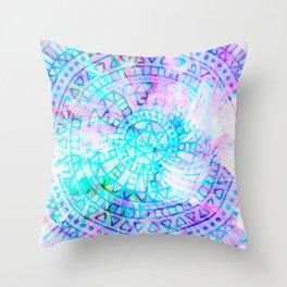 pastel mandala cui Throw Pillow