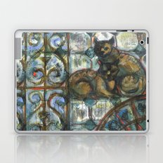 Cats in the patio. Laptop & iPad Skin