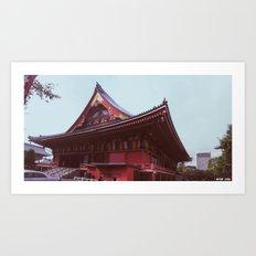 Asakusa Temple, Tokyo Art Print