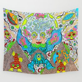 Supersonic Angel Pyramid Blaster Wall Tapestry