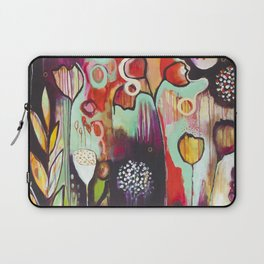 """""""Release Become"""" Original Painting by Flora Bowley Laptop Sleeve"""