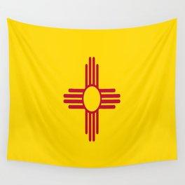 flag new mexico-usa,america,sun,Zia Sun symbol,New Mexican,Albuquerque,Las Cruces,santa fe,roswell Wall Tapestry