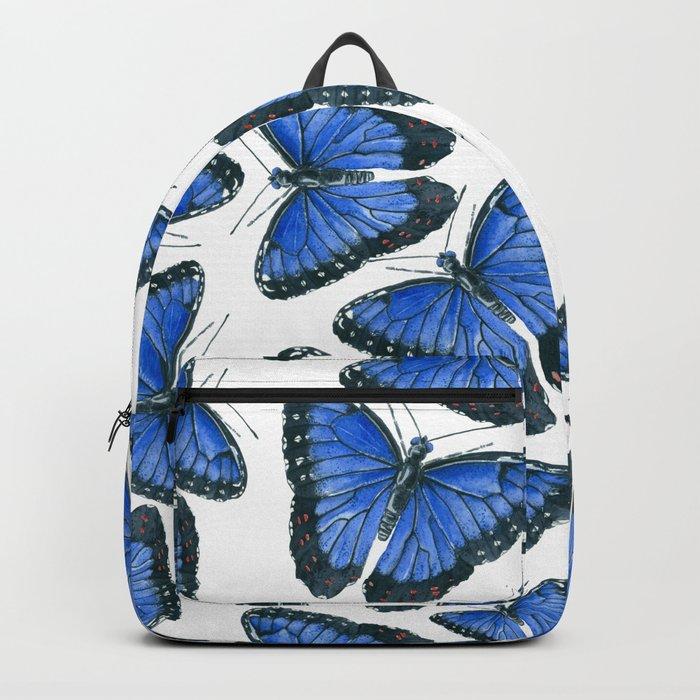 Blue morpho butterfly pattern design Backpack