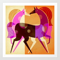 EQUESTRIAN DREAM Art Print