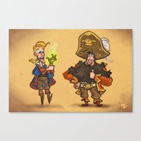 monkey island Canvas Prints featuring #85 - Tales of Monkey Island by Jón Kristján Kristinsson