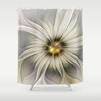 blossom Shower Curtains featuring Blossom by gabiw Art