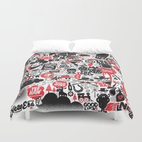 western Duvet Covers featuring Western Pattern by lanewera
