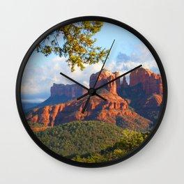 Cathedral Rocks of Sedona Wall Clock