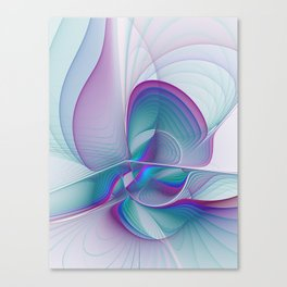 Colorful Beauty, Abstract Fractal Art Canvas Print