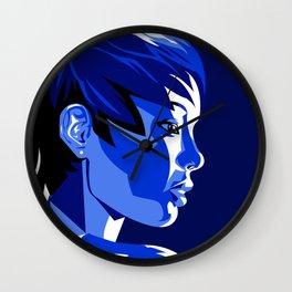 Blue Shadow Wall Clock
