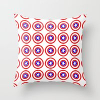 agents of shield Throw Pillows featuring Shield (W) by Luca Draws