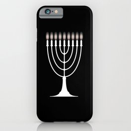 Menorh With Nine Candles iPhone Case