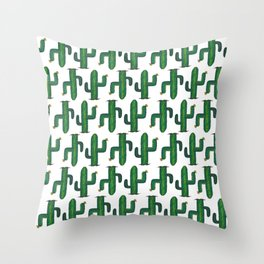 Walk Like a Cactus(ian) - Abstract Cacti Throw Pillow