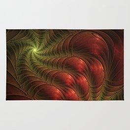 Fantasy Fractal, Coloful And Luminous Rug