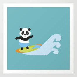 Surf Panda Art Print