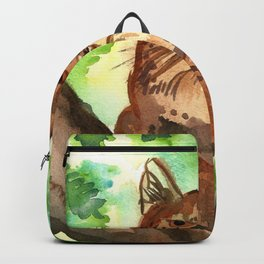 Lynx in the Forest Backpack