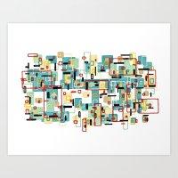 mod Art Prints featuring Mod by Tina Carroll