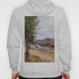 Pontoise Banks Of The Oise 1872 By Camille Pissarro | Reproduction | Impressionism Painter Hoody