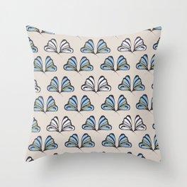 Madam Butterfly Print Throw Pillow
