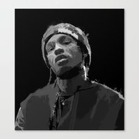 asap rocky Canvas Prints featuring ASAP Rocky by Léo Faulhaber