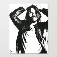 dave grohl Canvas Prints featuring Dave Grohl (1) by Carolyn Campbell