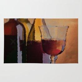 Years, Lovers & Glasses of Wine Rug