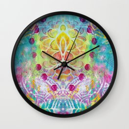 Jazz it Up!! Art by Mimi Bondi Wall Clock
